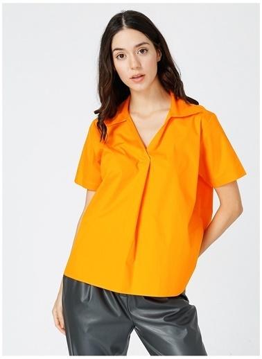 Fabrika Comfort Fabrika Kadın Turuncu Comfort Bluz Oranj